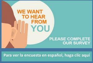 we want to hear from you english and spanish