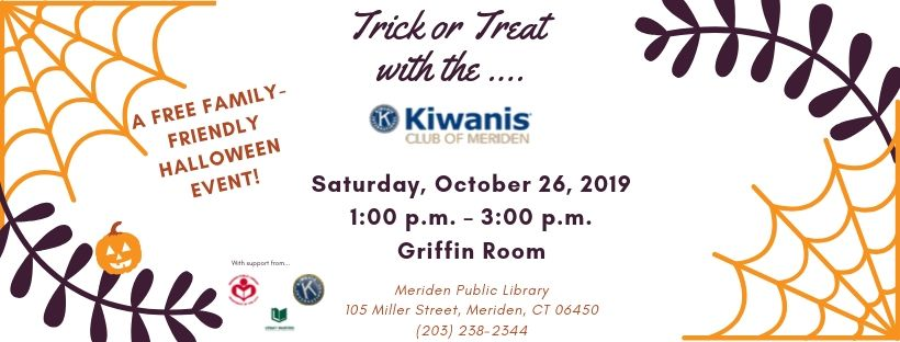 banner trick or treat with kiwanis