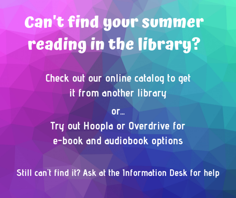 src can't find your summer reading