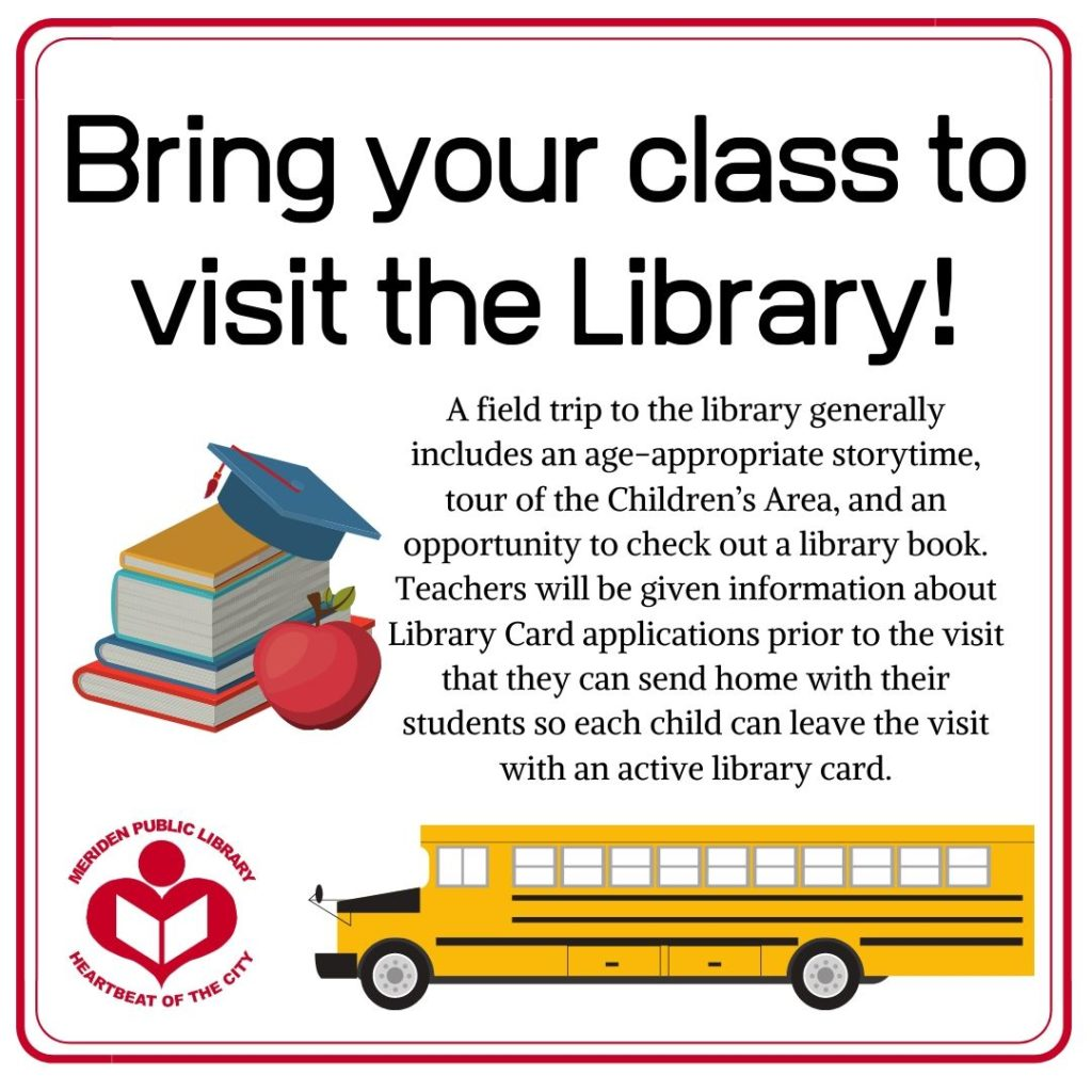 bring your class to visit the library 1