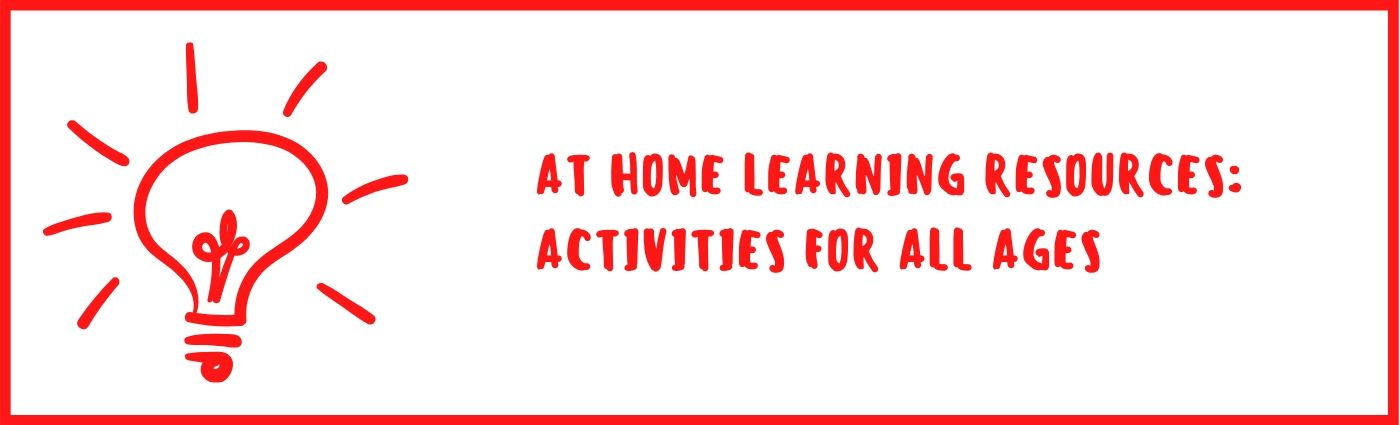 at home learning resources activities for all ages