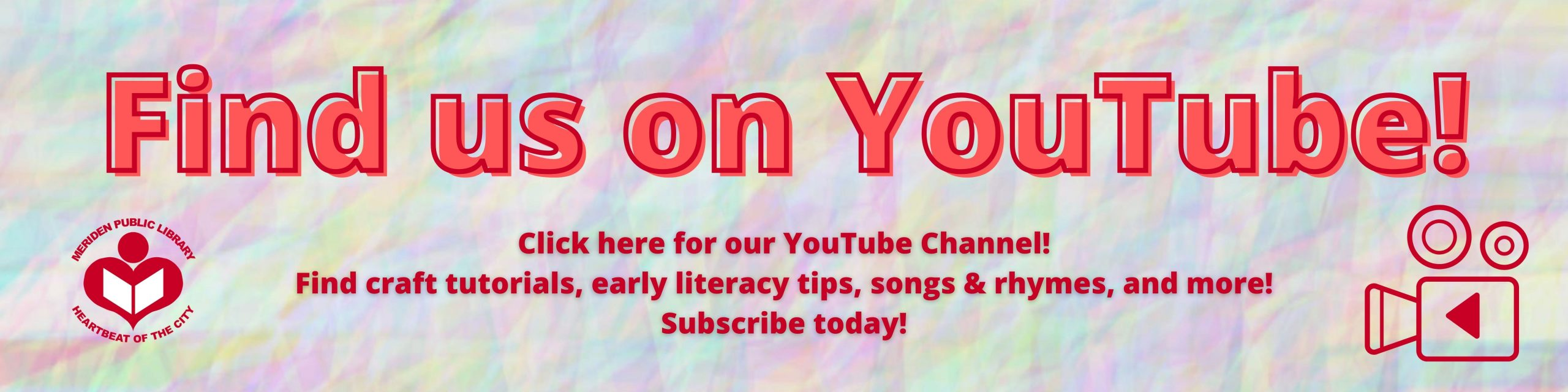 find us on youtube!